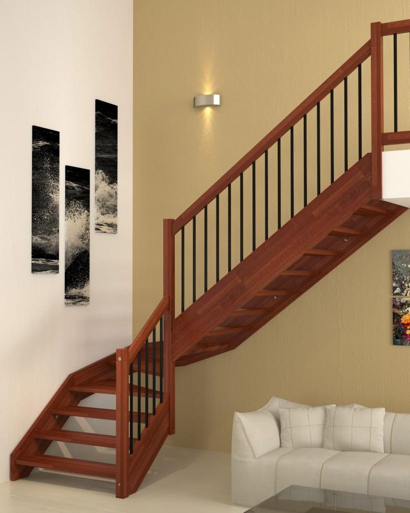 Wooden staircase brick rintal for Rintal scale prezzi