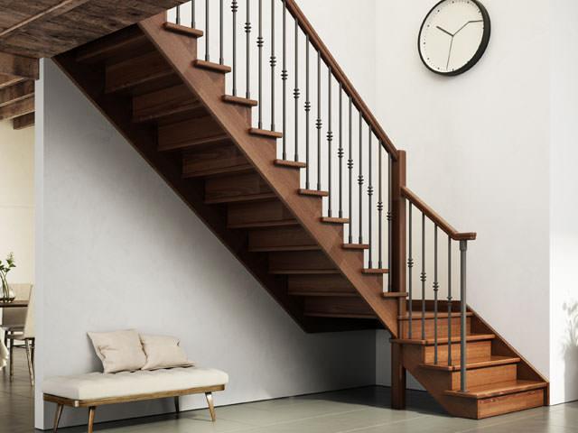 Indoor wooden staircase rintal gara - Misure scale interne ...