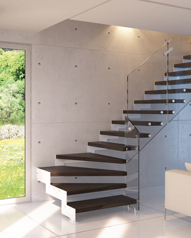 Steel staircase rintal daisy - Misure scale interne ...