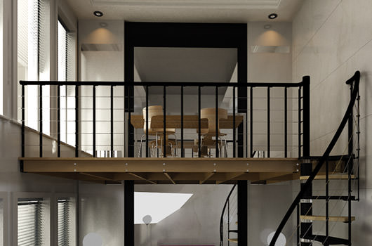 Spiral and open staircases rintal for Rintal scale prezzi